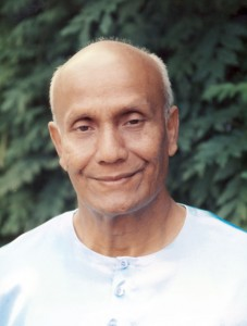 Sri Chinmoy mély meditációban